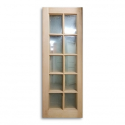 Fir Door   28inch X 77inch   10 Lite  Single Glass