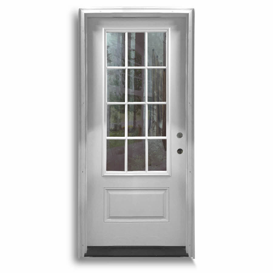Popular Prehung Fiberglass Doors With 2 Sidelites: