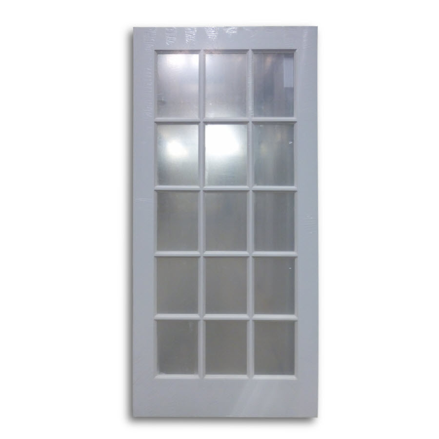 Interior French Door Primed White 15 Lite 36 W Home