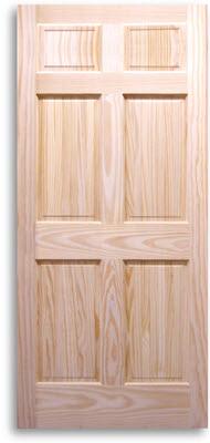 6 panel pine door 24w 80h home surplus - 6 panel pine interior prehung doors ...