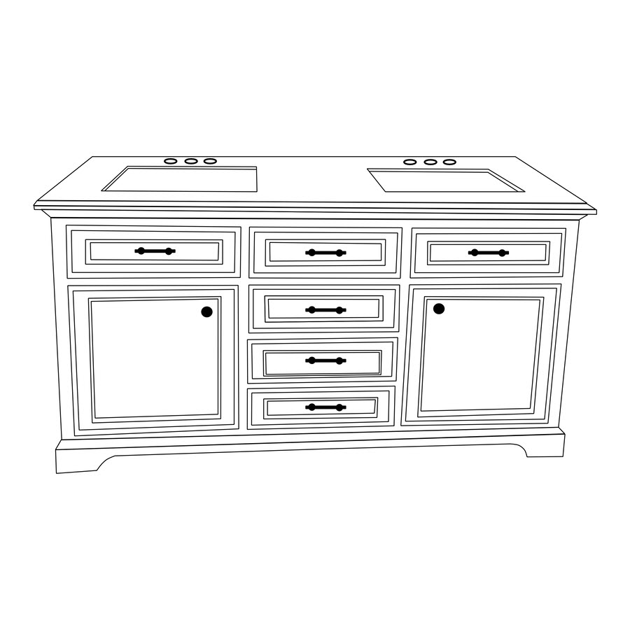 Line Art Vanity : Milan collection grey bath vanity inch
