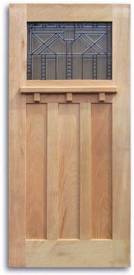 Craftsman Style Oak Exterior Door - 36\