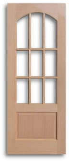 solid wood red oak french doors