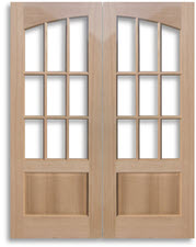 Solid wood red oak doors home surplus french 9 lite beveled glass oak door interior oak doors are available to purchase as slabs door only or as a prehung door unit planetlyrics Choice Image