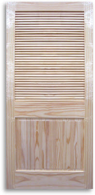 Interior half louver pine door 36w x 80h home surplus Prehung louvered interior doors