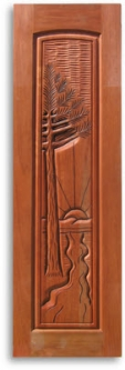 Pre Finished Tropical Themed Carved Mahogany Interior Doors Home Surplus