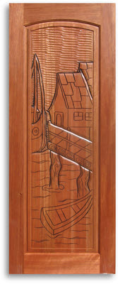 Pre Finished Carved Mahogany Interior Door 32w X 80h Home Surplus