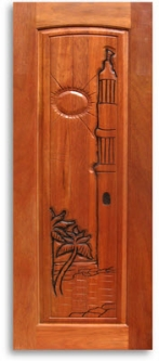 Pre finished tropical themed carved mahogany interior - Prefinished mahogany interior doors ...