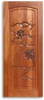 Pre Finished Carved Mahogany Interior Door 24w X 80h Home Surplus
