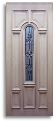oak exterior door bullet style glass with black caming 32 w slab only home surplus