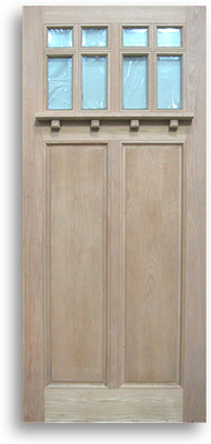 OAK EXTERIOR DOOR 8-Lite Glass; Size: 42\