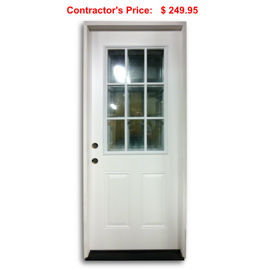 36 inch pre hung steel door 9 lite home surplus for Pre hung doors