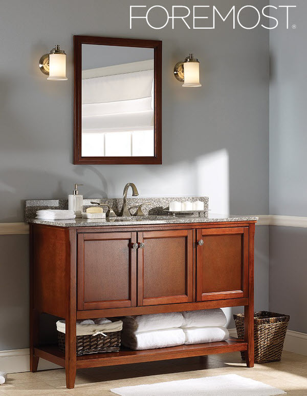 Bathroom vanity closeout