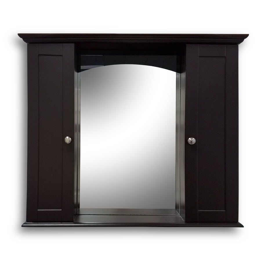 Hd mirror espresso 35 5 w x 31 5 h home surplus for Espresso bathroom medicine cabinet