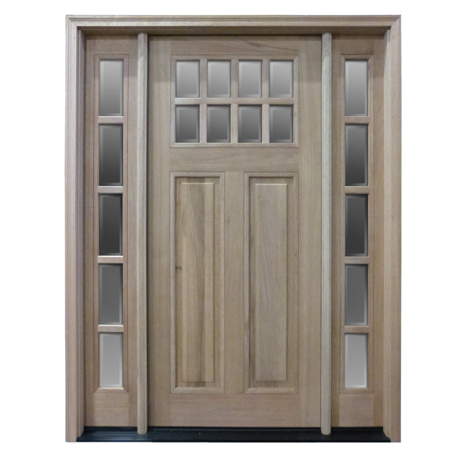 Htc50 pre hung 8 lite mahogany exterior door with 2 for 8 lite exterior door