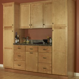 Amesbury Golden Cabinets