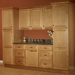 Quincy Golden Cabinets