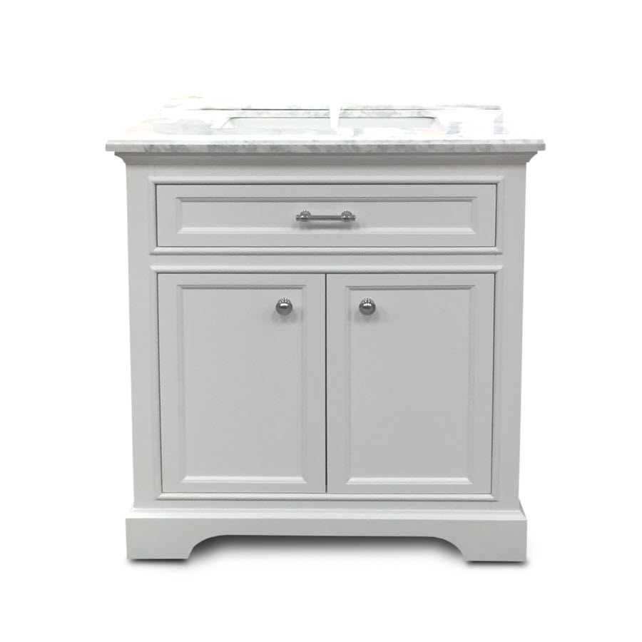 Milan Collection White Bath Vanity 30inch X 21inch 2
