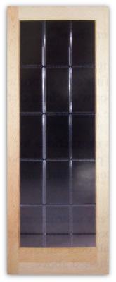 Odessa 15 Lite V Groove Bevel Cut Glass Door 32w X 80h