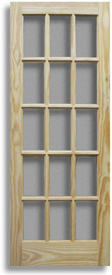 Pine Indoor French Doors | Elegant Glass Panel Interior Doors