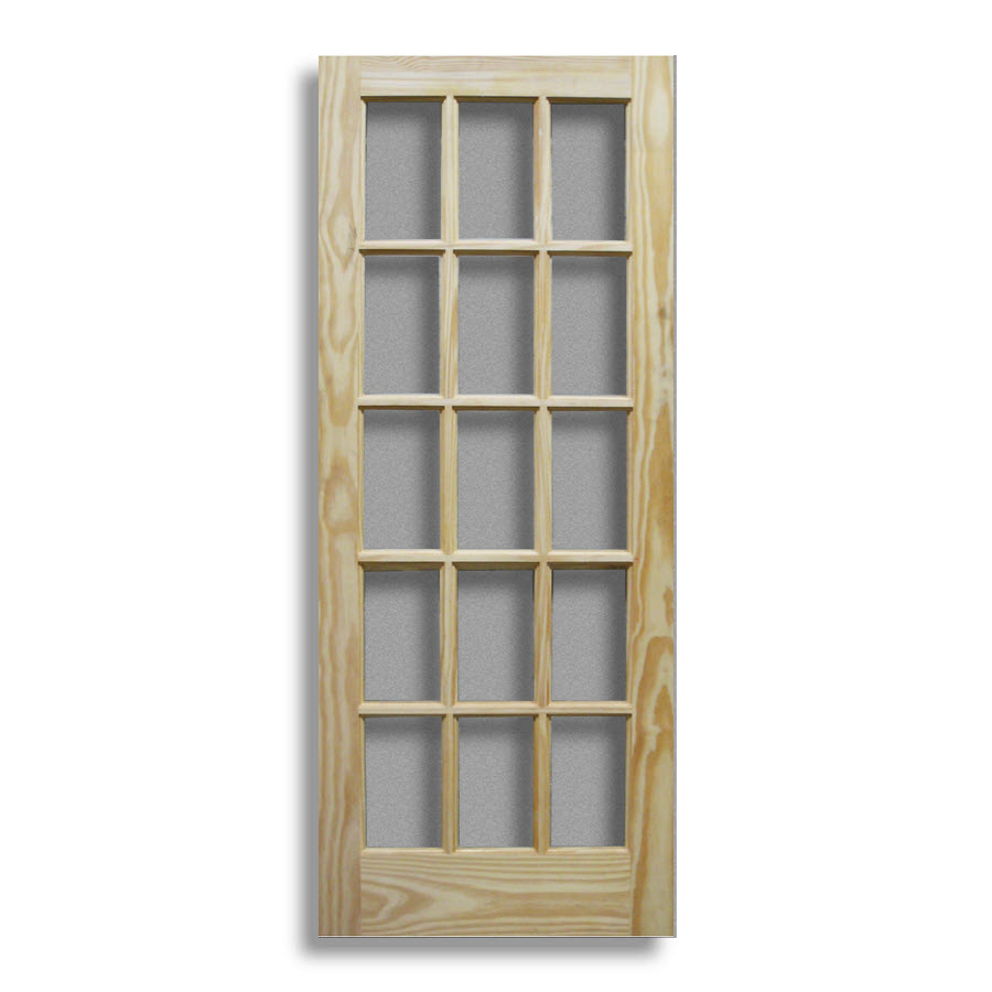 Pine interior french door 15 lite 30 w home surplus for 15 french door