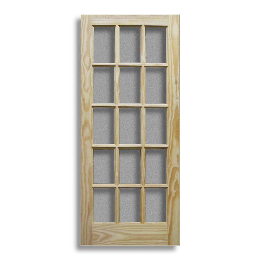 Pine interior french door 15 lite 36 w home surplus for 15 lite door