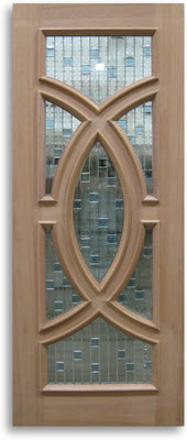 Mahogany exterior door zinc caming 30 w 80 h slab only - 30 x 80 exterior door with pet door ...