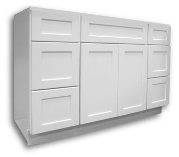 White Shaker Style Vanity 48 Wide 21 Deep Home Surplus