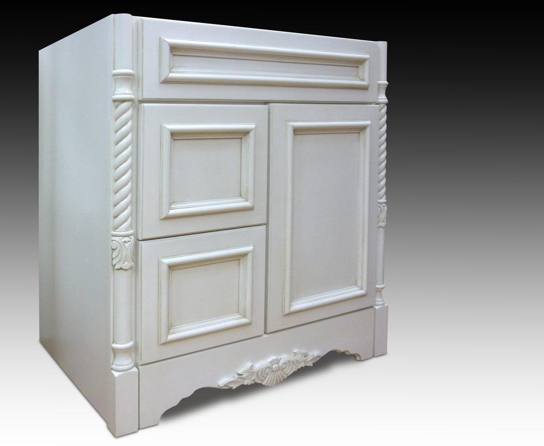 VENICE VANILLA Vanity 36w 21d 1 Door 2 Drawers Home Surplus
