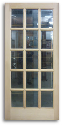Oak Exterior French Door 15 Lite 36 X 80 Slab Only