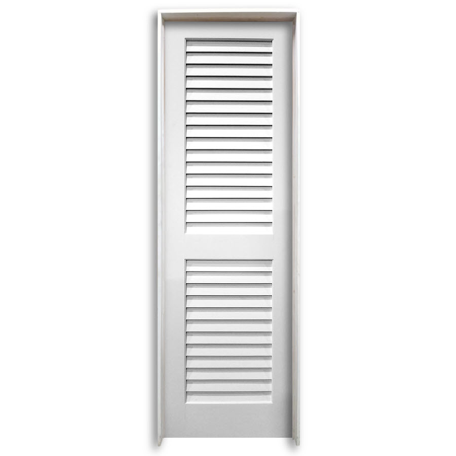28 pre hung interior plantation primed louver door home Prehung louvered interior doors