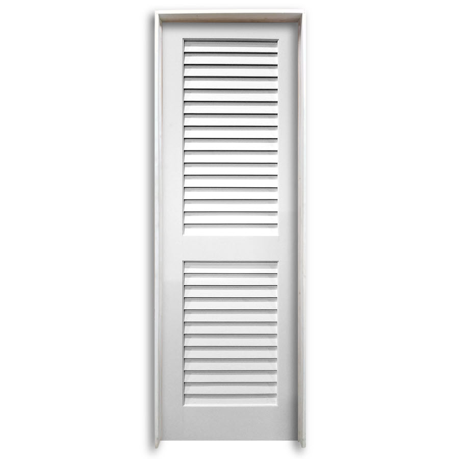30 Quot Pre Hung Interior Plantation Primed Louver Door Home