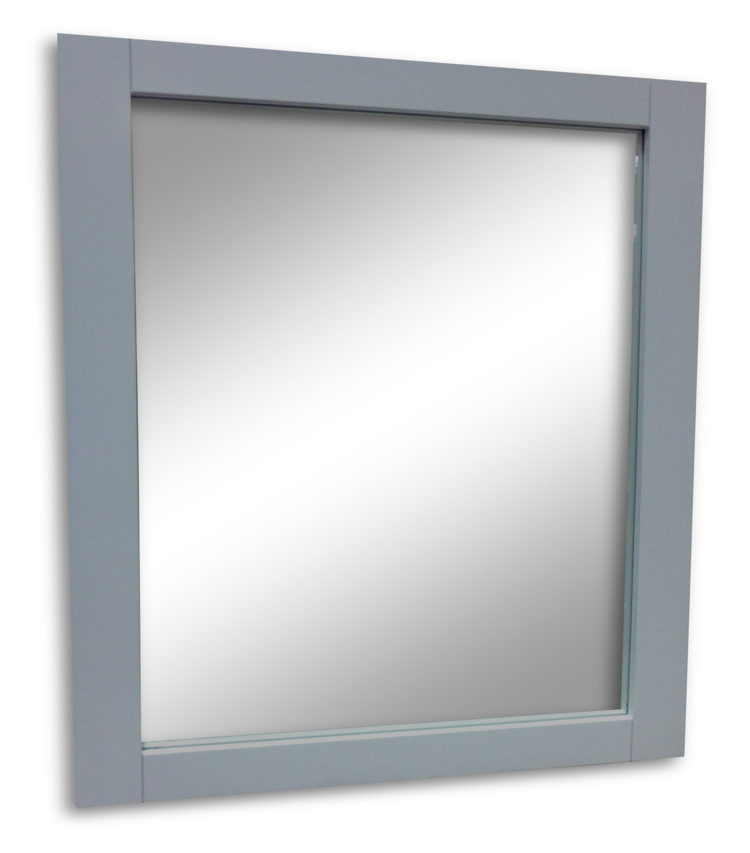 Grey framed mirror