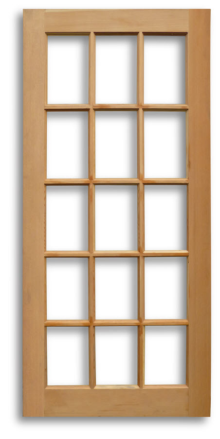 15 lite interior french door fir 34w x 77h home surplus for 15 lite french door