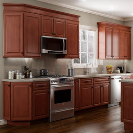 Quincy Cherry Cabinets