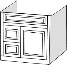 Wheaton Vanity   1 Door   2 Drawers On Left