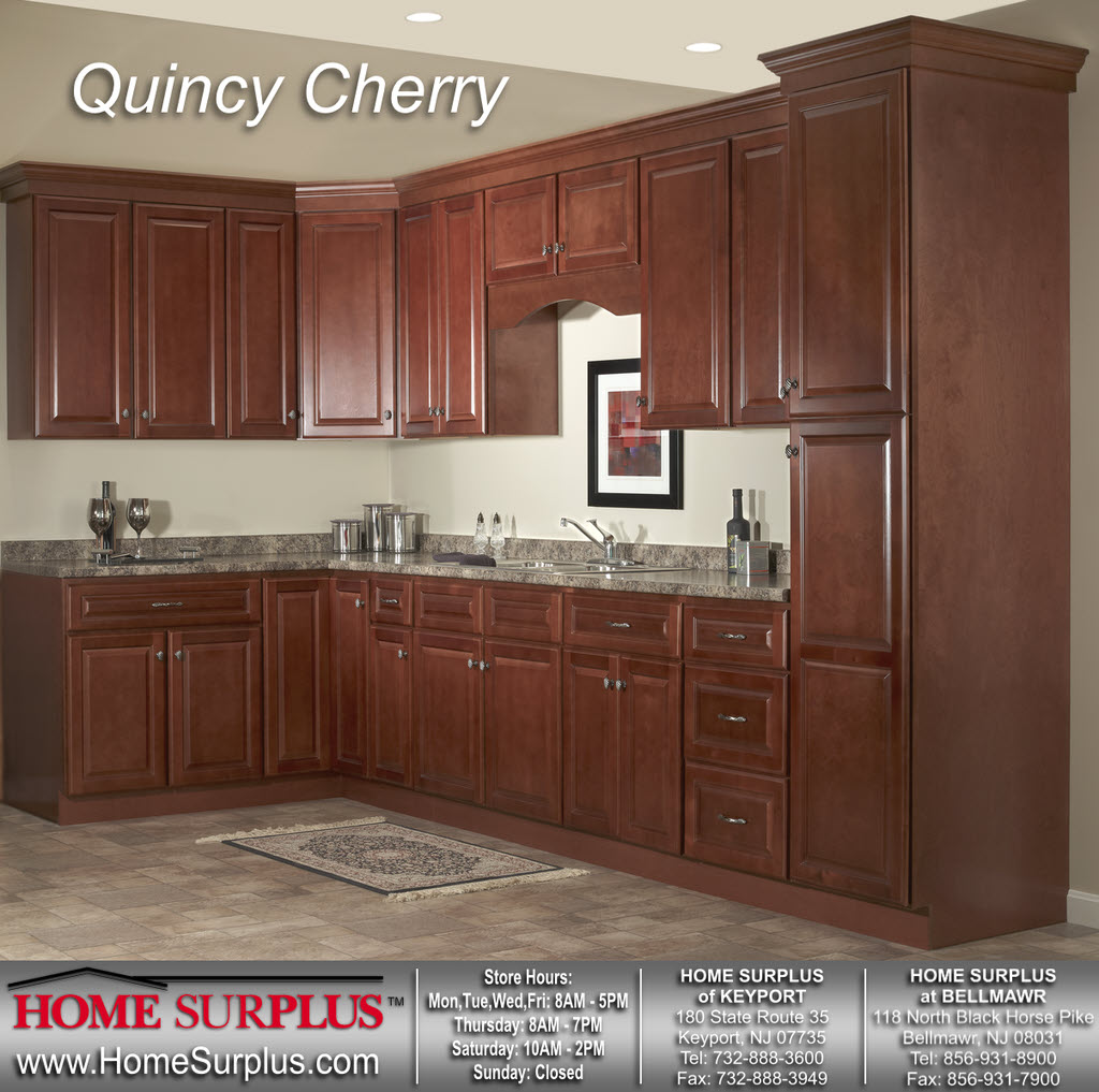 Kitchen cherry cabinets for Cherry cabinets
