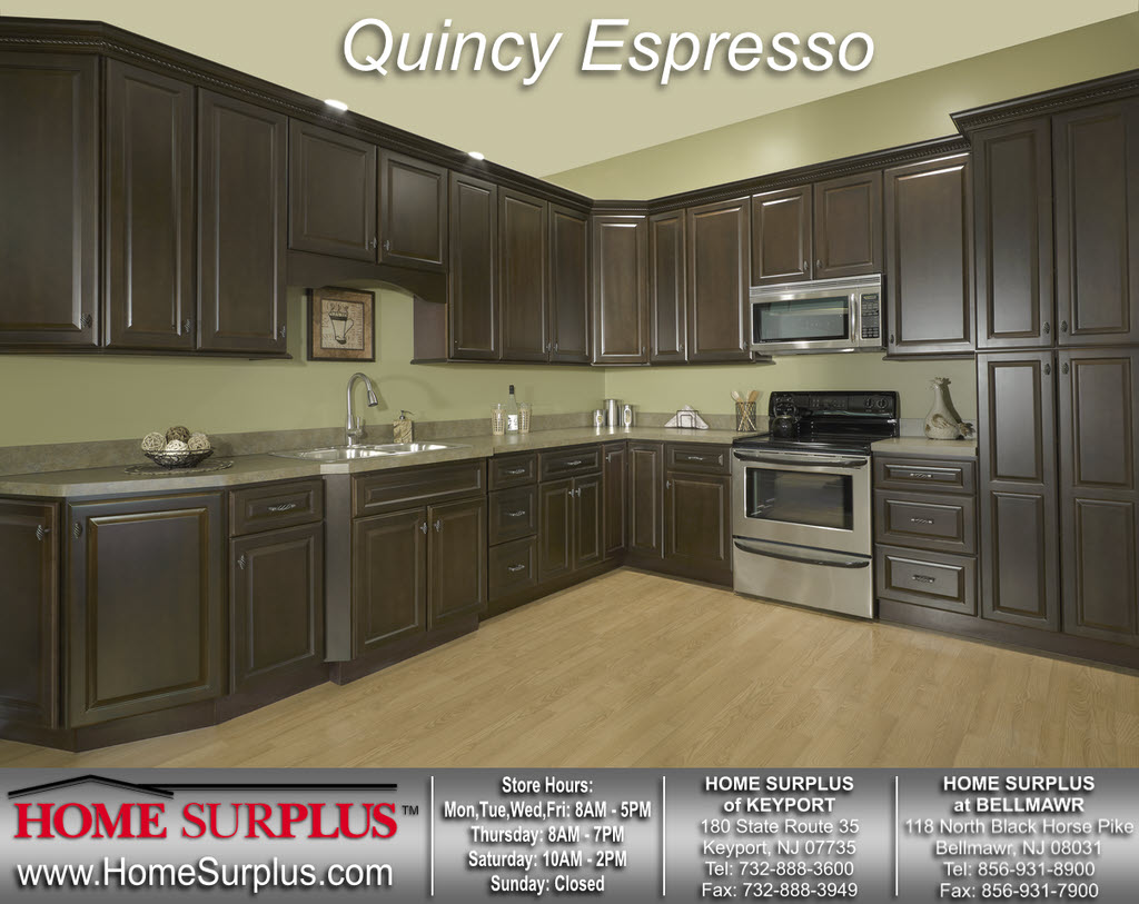Kitchen cabinets surplus atlanta - Quincy Espresso Click Here Please For A Larger Image