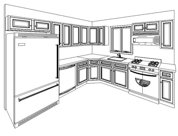 A 10 39 x 10 39 kitchencabinet layout for Kitchen cabinets 10 x 12