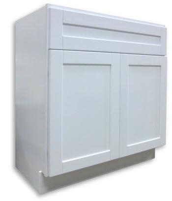Shaker Vanity White 30 W 18 D 2 Door Home Surplus