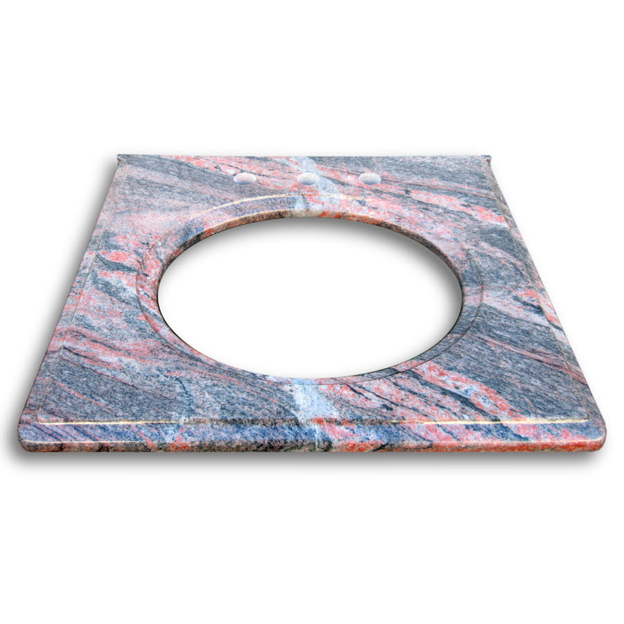 Granite Vanity Top 25wide 22deep Color Multicolor Home Surplus