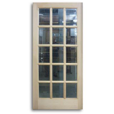 oak exterior french door 15 lite 36 x 80 slab only home surplus