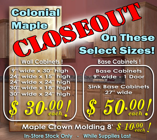Colonial Maple CLOSEOUT!