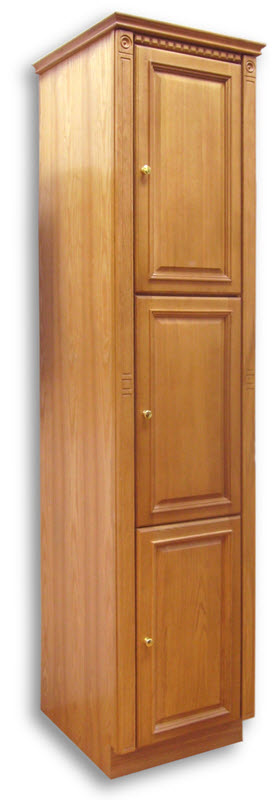 Newport Oak Linen Cabinet 18w 21d 84h 3 Doors Home Surplus