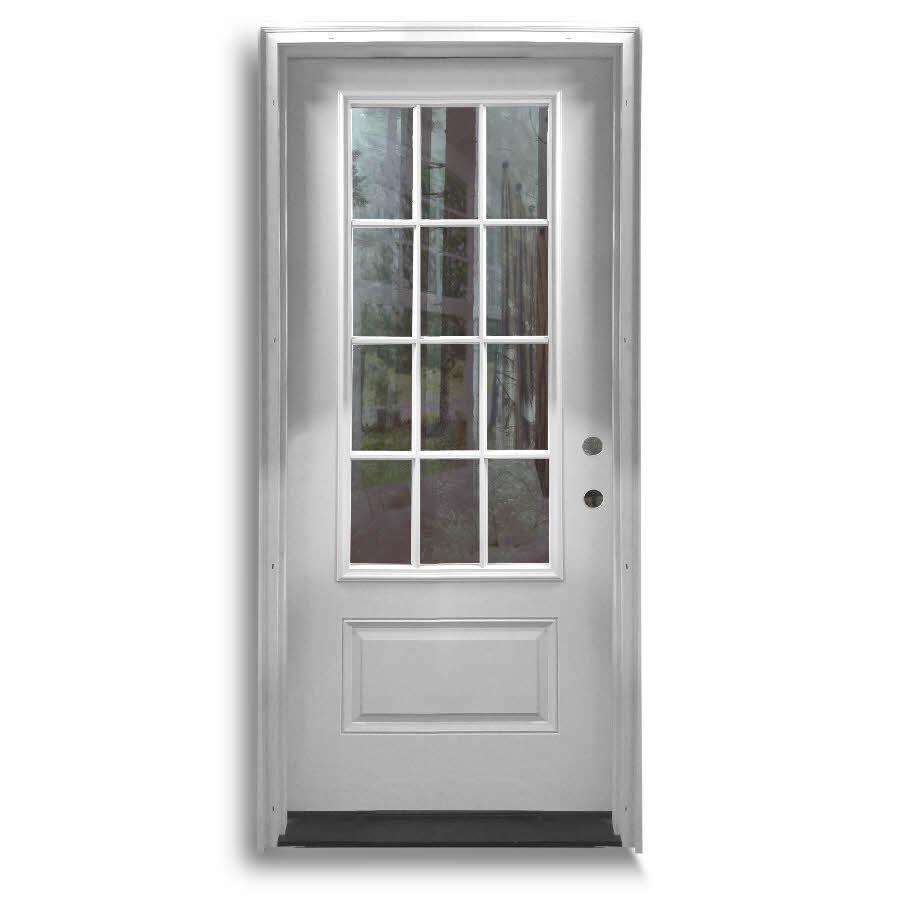 Popular Prehung Fiberglass Doors With 2 Sidelites:
