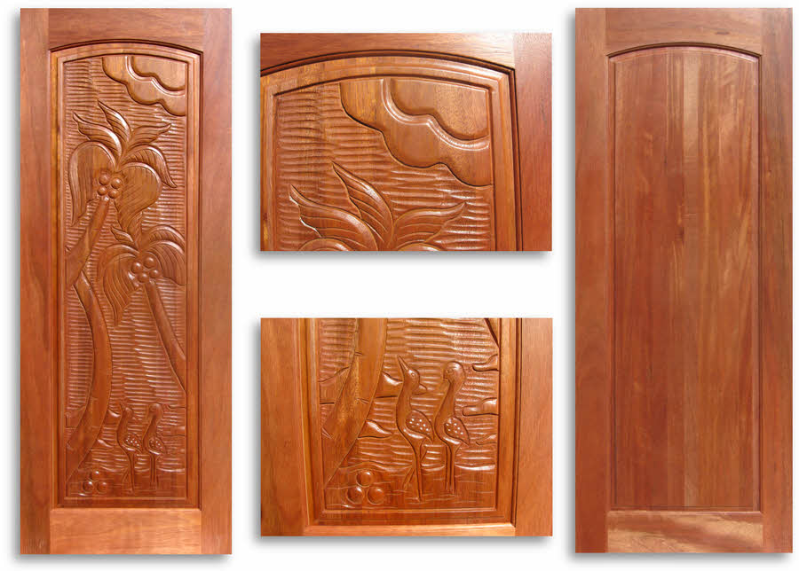 Pre Finished Carved Mahogany Interior Door 32w X 80h Home