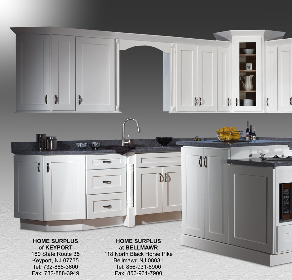 Kitchen Cabinets: Shaker White Cabinets: