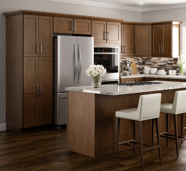 Brown Kitchen Cabinets: Amesbury Brown Cabinets: