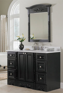 Venice Black Bath Cabinetry