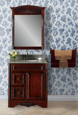Venice Burgundy Bath Cabinetry